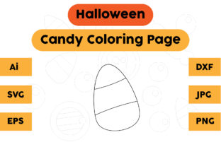 Halloween Coloring Page - Candy 02 Graphic Coloring Pages & Books Kids By isalsemarang