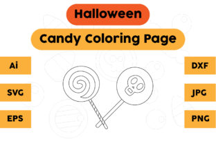 Halloween Coloring Page - Candy 03 Graphic Coloring Pages & Books Kids By isalsemarang