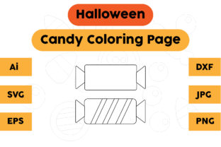 Halloween Coloring Page - Candy 04 Graphic Coloring Pages & Books Kids By isalsemarang