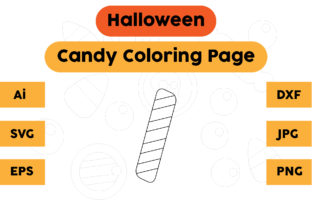 Halloween Coloring Page - Candy 05 Graphic Coloring Pages & Books Kids By isalsemarang