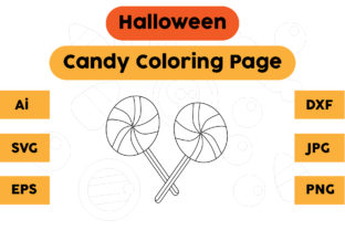 Halloween Coloring Page - Candy 06 Graphic Coloring Pages & Books Kids By isalsemarang