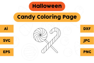 Halloween Coloring Page - Candy 07 Graphic Coloring Pages & Books Kids By isalsemarang