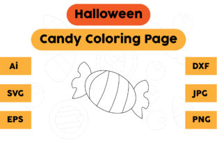 Halloween Coloring Page - Candy 08 Graphic Coloring Pages & Books Kids By isalsemarang