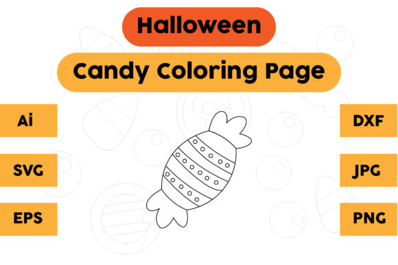 Halloween Coloring Page - Candy 09 Graphic Coloring Pages & Books Kids By isalsemarang