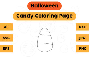 Halloween Coloring Page - Candy 10 Graphic Coloring Pages & Books Kids By isalsemarang