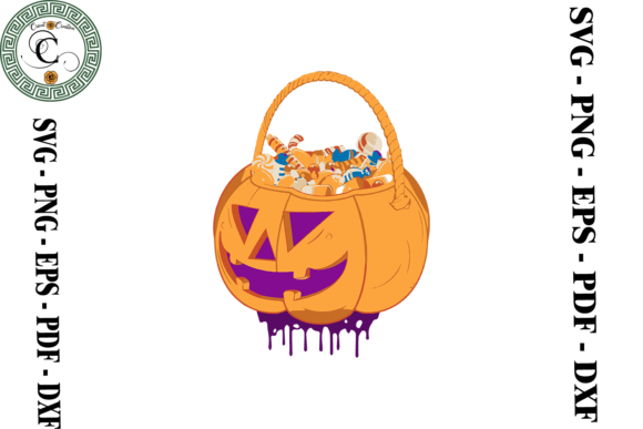 Print on Demand: Halloween Pumpkin Candy Vector Graphic Print Templates By Cricut Creation