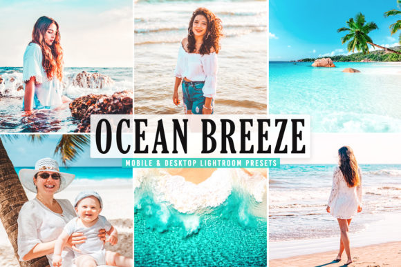 Print on Demand: Ocean Breeze Pro Lightroom Presets Graphic Actions & Presets By Creative Tacos