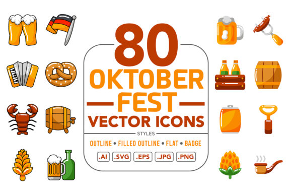 Oktoberfest Vector Icons Graphic Icons By medzcreative