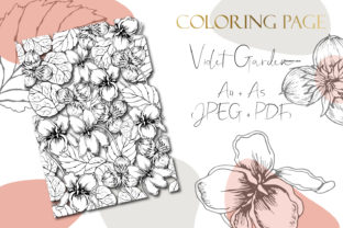 Printable Digital Floral Coloring Page 3 Graphic Coloring Pages & Books Adults By DaisyArtDecor