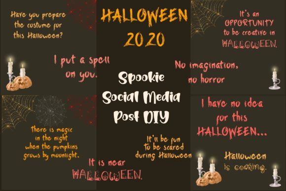 Spookie Social Media Quotes & Icons Graphic Websites By toei.storyline