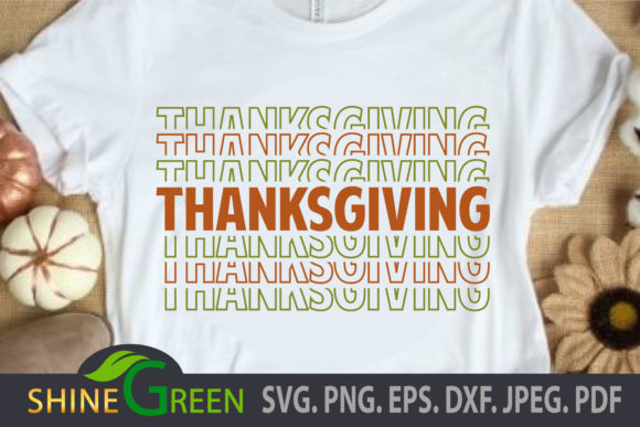 Print on Demand: Thanksgiving  Fall Stacked Font - Autumn Graphic Crafts By ShineGreenArt