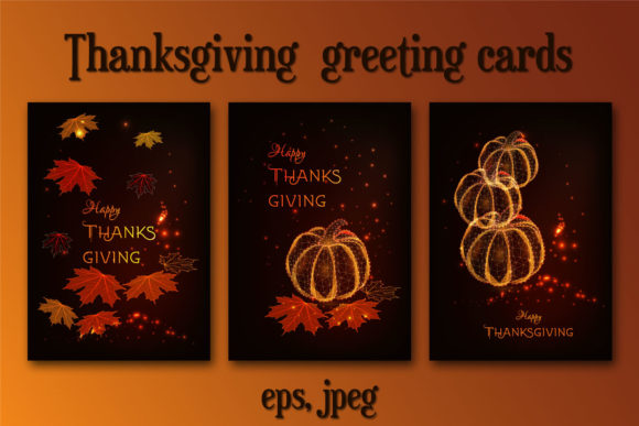 Thanksgiving Greeting Card Graphic Print Templates By inkoly.art