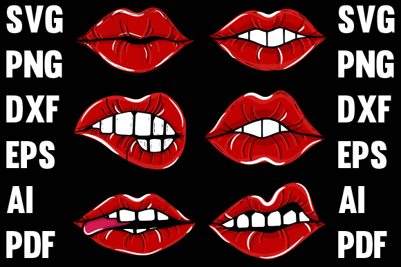 Lips Design. Graphic Print Templates By walidhasan142s