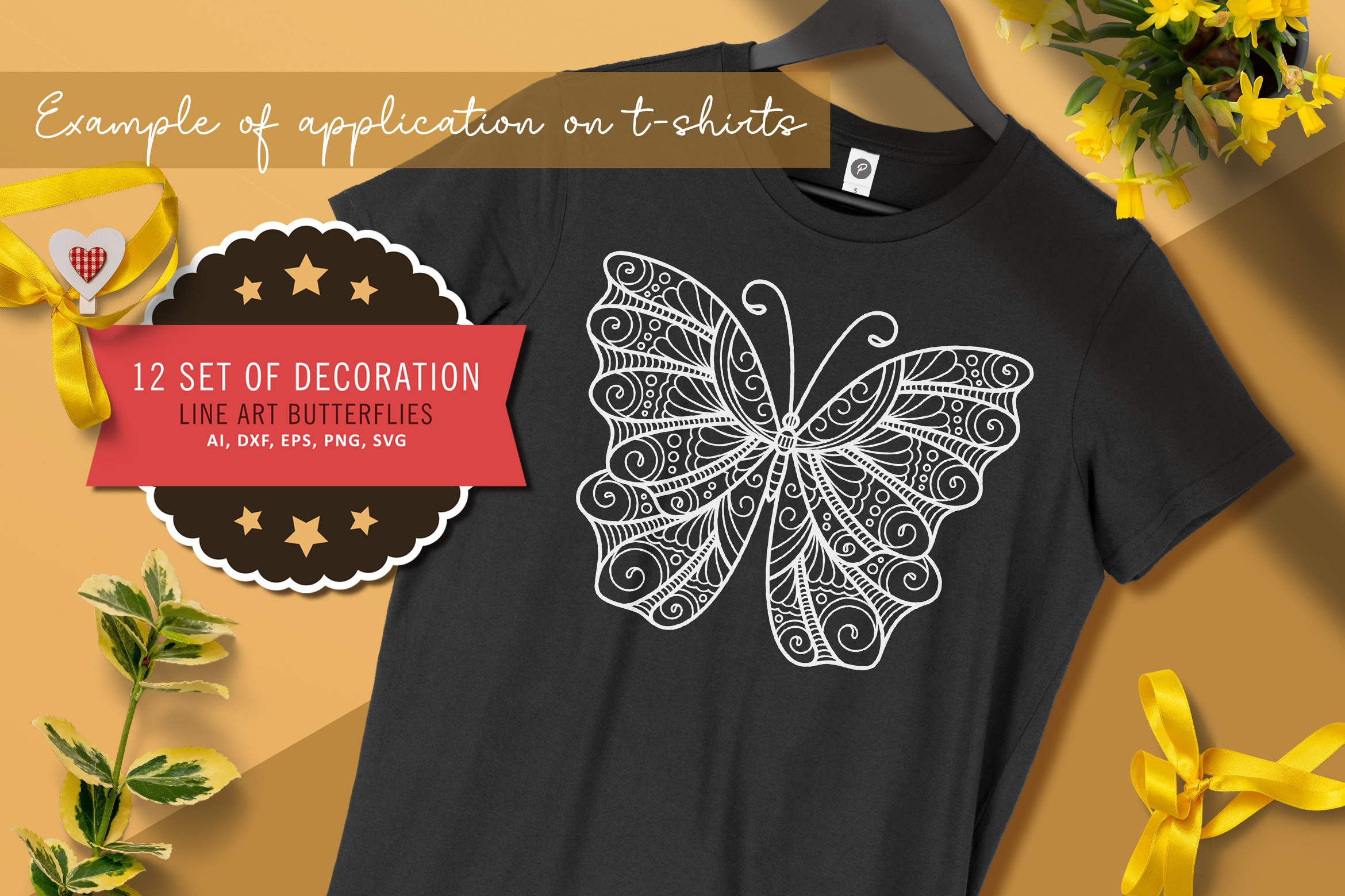 12 Butterflies SVG Files for Silhouette SVG File