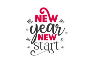 New Year New Start New Year's Craft Cut File By Creative Fabrica Crafts