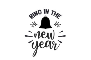 Ring in the New Year New Year's Craft Cut File By Creative Fabrica Crafts