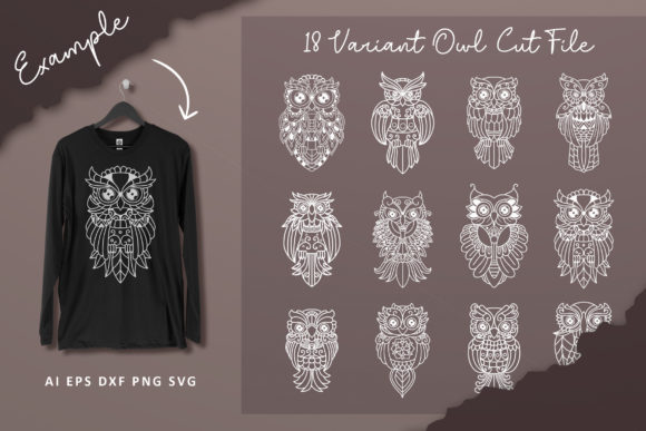 18 Set Owl Craft and SVG Cut Files Graphic Crafts By AllmoStudio