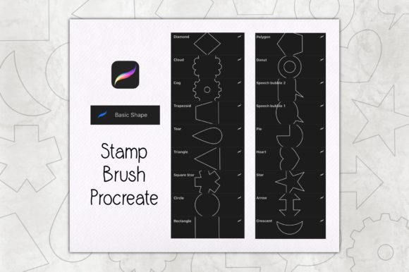 Basic Shape Stamp Brush Procreate Graphic Brushes By TakeNoteDesign