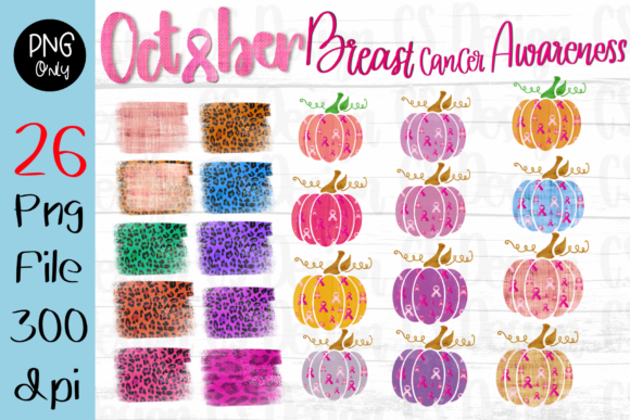 Print on Demand: Breast Cancer Cure Sublimation Pumpkins Graphic Crafts By CSDesign