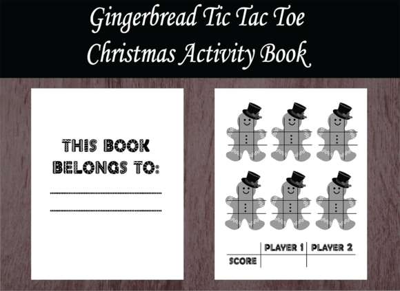 Print on Demand: Christmas Activity Book – Tic Tac Toe Gráfico Páginas KDP Por design-world