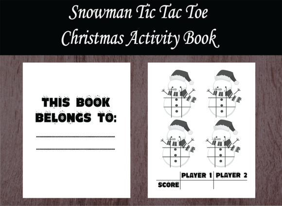Print on Demand: Christmas Activity Book - Tic Tac Toe Gráfico Páginas KDP Por design-world
