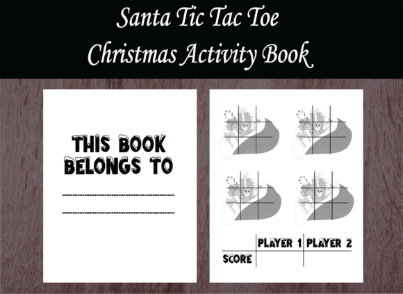 Print on Demand: Christmas Activity Book-Tic Tac Toe Gráfico Páginas KDP Por design-world