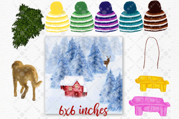 Christmas Clipart Winter Family Clipart Graphic Design