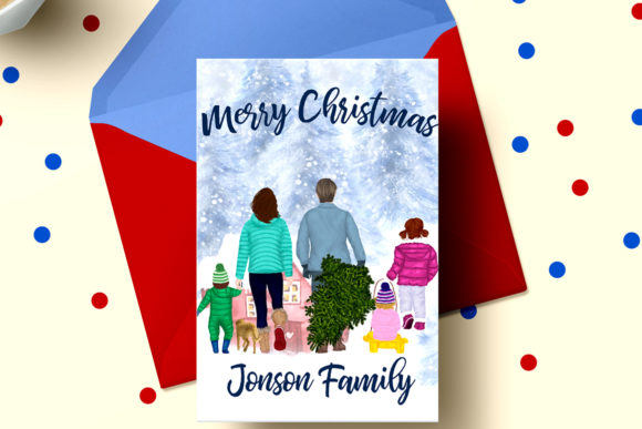 Christmas Clipart Winter Family Clipart Graphic Preview