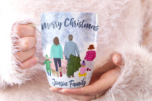 Christmas Clipart Winter Family Clipart Graphic Image