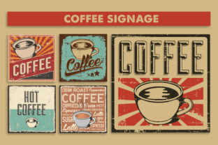 Print on Demand: Coffee Signage Poster Graphic Illustrations By zullfikarilyas