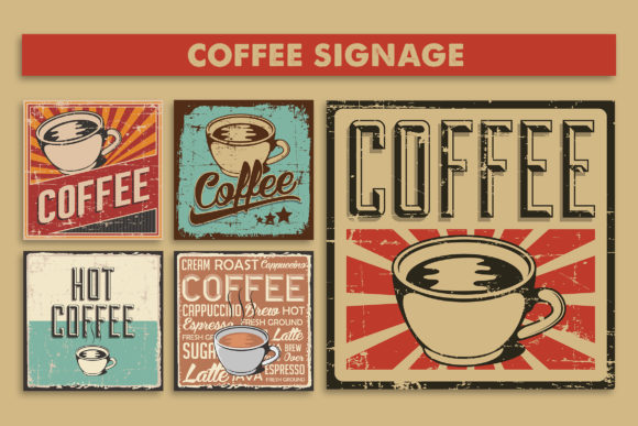 Coffee Signage Poster Graphic Illustrations By zullfikarilyas