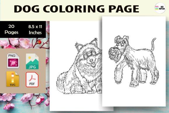 Print on Demand: Dog Coloring Page-KDP Graphic Coloring Pages & Books Kids By Sei Ripan