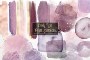 Print on Demand: Dusk Rose Paint Elements Graphic Illustrations By Digital Curio