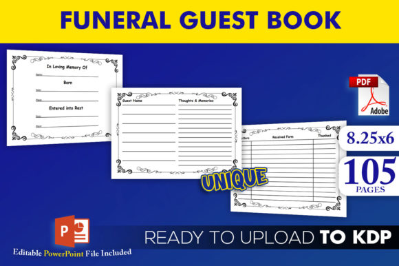 Print on Demand: Funeral Guest Book KDP Interior Template Graphic KDP Interiors By Beast Designer