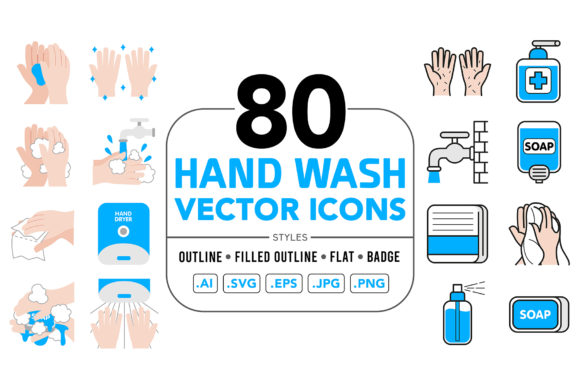 Handwash Vector Icons Graphic Icons By medzcreative