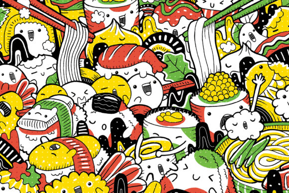 Japanese Food Illustration Graphic Illustrations By medzcreative