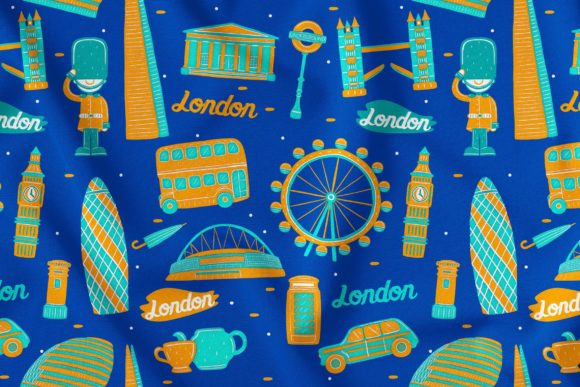 London Seamless Pattern Graphic Patterns By medzcreative
