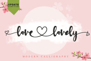 Print on Demand: Love Lovely Script & Handwritten Font By thomasaradea