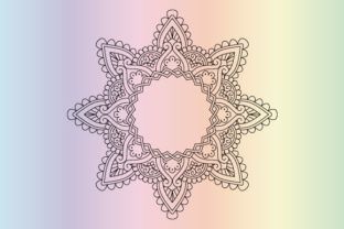Print on Demand: Mandala Coloring Page Vector Graphic Coloring Pages & Books Kids By GraphicsFarm