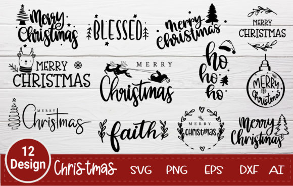 Merry Christmas Svg Bundle Graphic Crafts By artdee2554