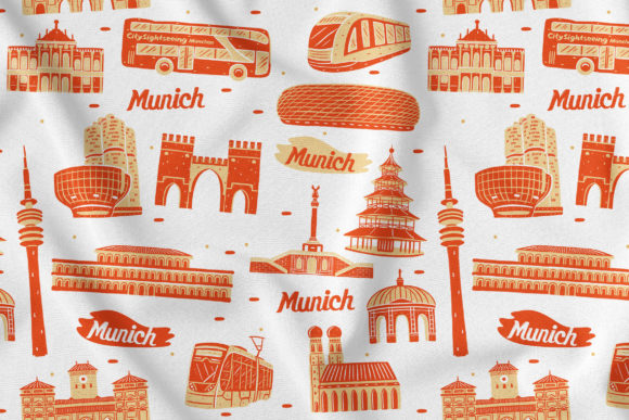 Munich Seamless Pattern Graphic Patterns By medzcreative