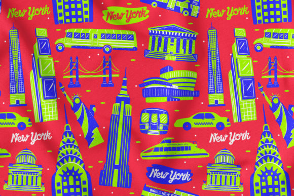 New York Seamless Pattern Graphic Patterns By medzcreative