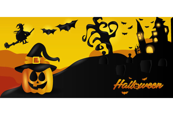 Realistic Halloween Background Design Graphic Backgrounds By Muhammad Rizky Klinsman