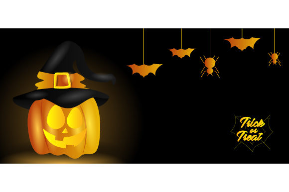 Shine Witch Pumpkin Halloween Background Graphic Backgrounds By Muhammad Rizky Klinsman