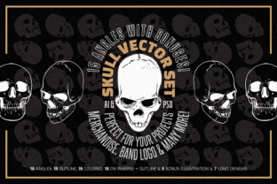 Print on Demand: Skull Vector Set Graphic Objects By ihsankl