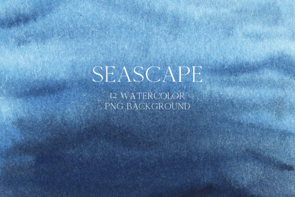 Watercolor Sea Beckground Graphic Preview