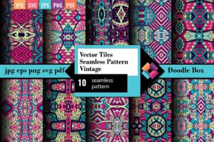10 Vector Doodle Seamless Pattern Pack Graphic Patterns By DoodleBox