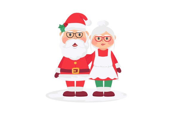Mr. & Mrs. Claus Christmas Craft Cut File By Creative Fabrica Crafts