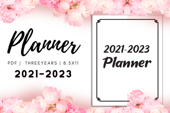 Print on Demand: 2021 2023 Three Years Planner KDP Graphic KDP Interiors By Fayne