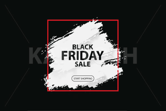 3d Black Friday Sale Banner Grunge Brush Graphic Illustrations By Kapitosh